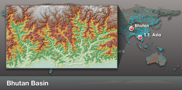 Bhutan Basin Location